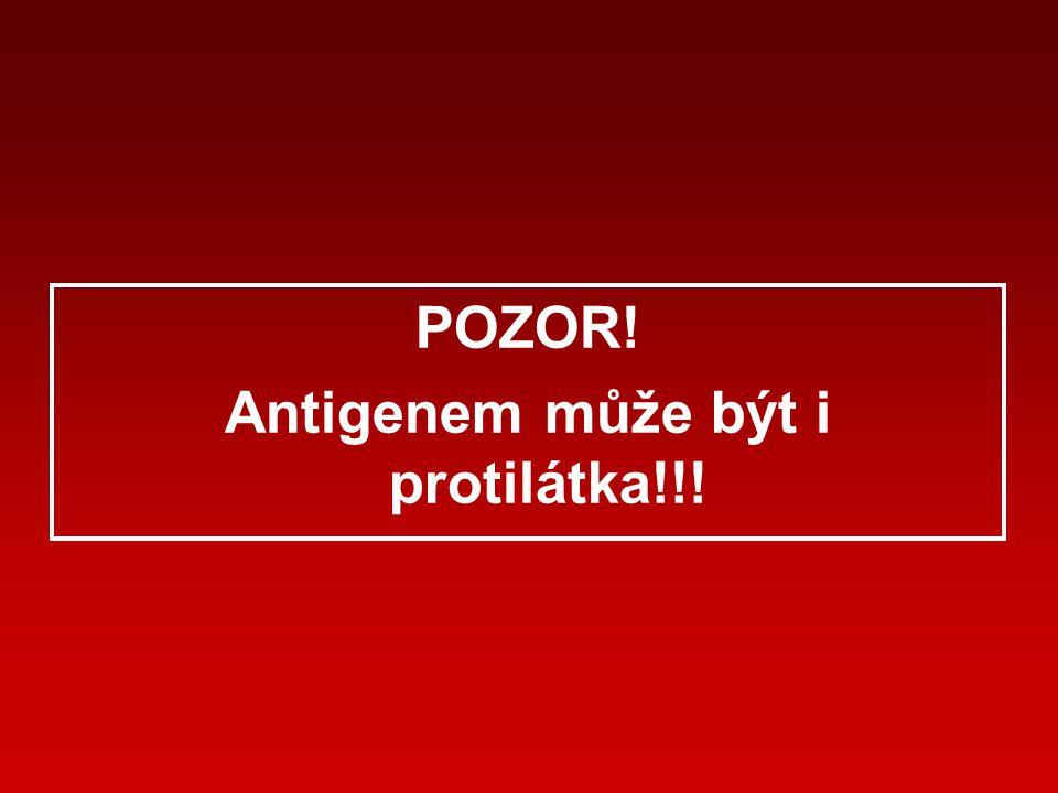 Antigenem může být i protilátka!!!