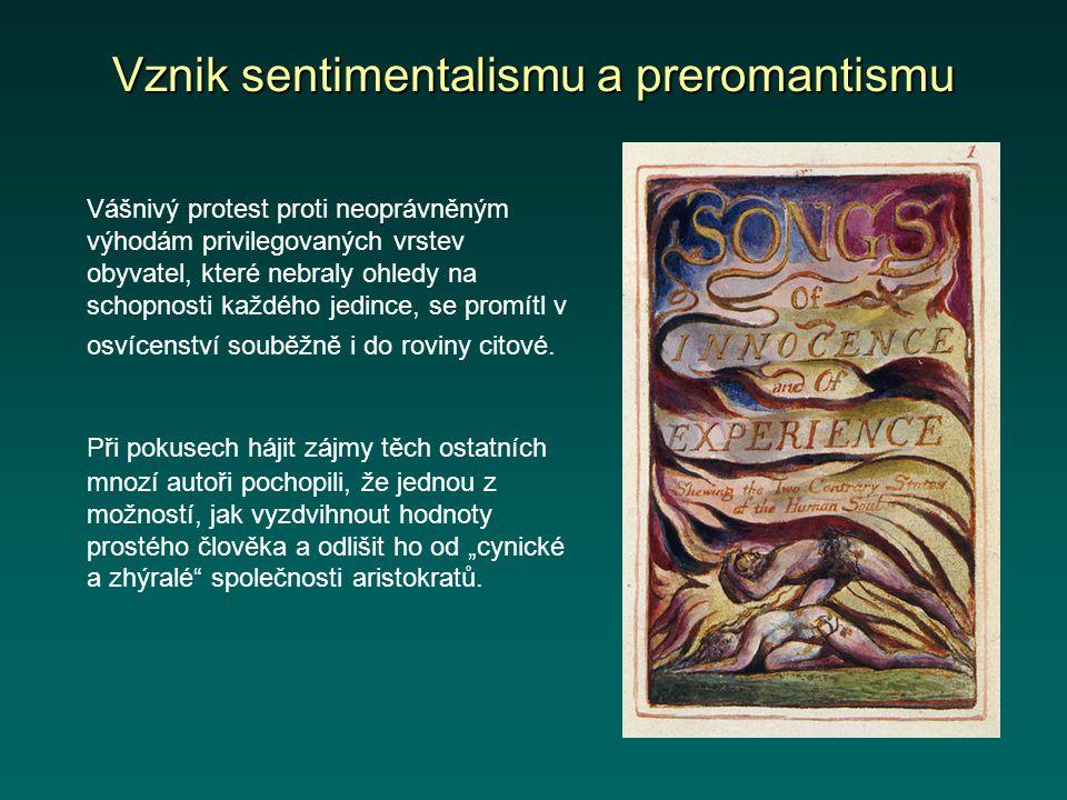 Vznik sentimentalismu a preromantismu