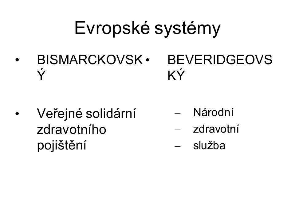 Evropské systémy BISMARCKOVSK Ý