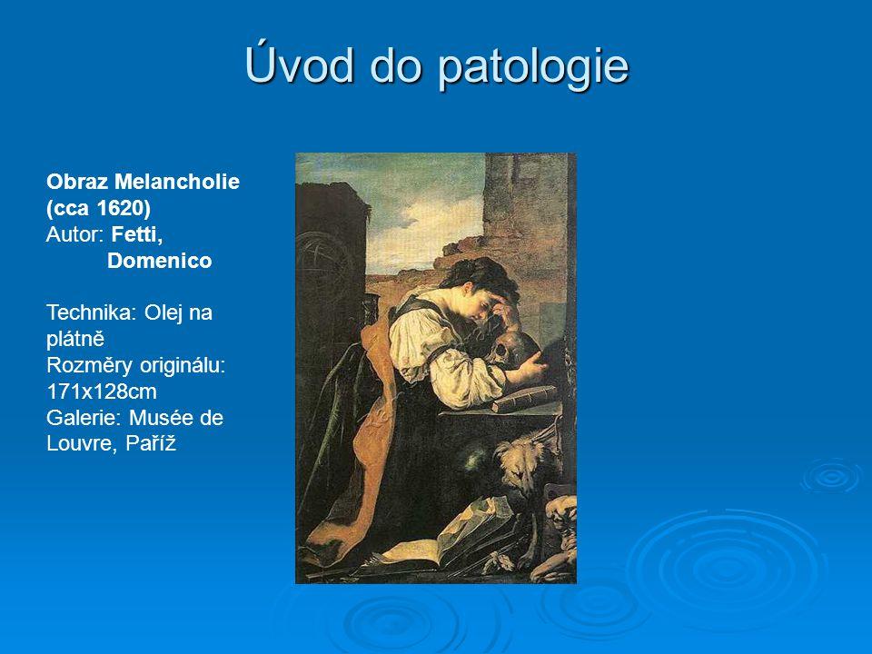 Úvod do patologie Obraz Melancholie (cca 1620) Autor: Fetti, Domenico