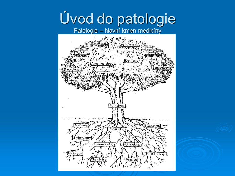 Úvod do patologie Patologie – hlavní kmen medicíny