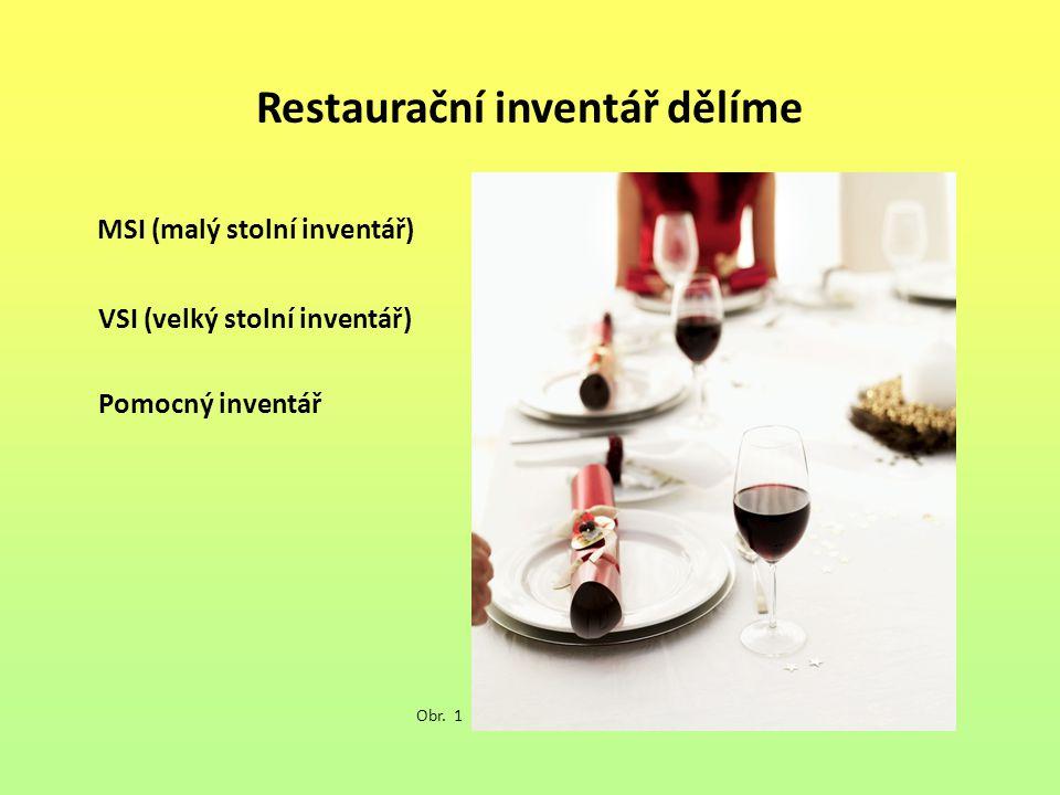 Restaurační inventář dělíme