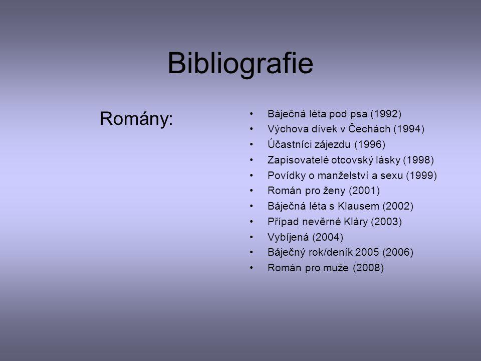 Bibliografie Romány: Báječná léta pod psa (1992)