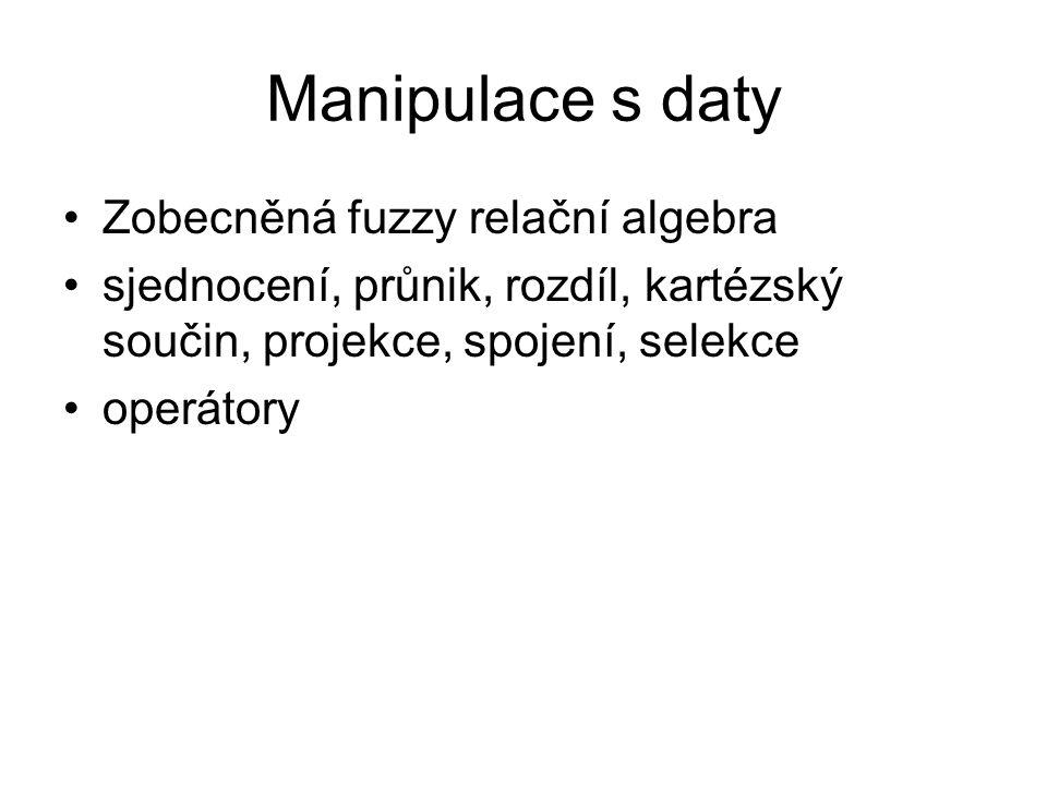 Manipulace s daty Zobecněná fuzzy relační algebra