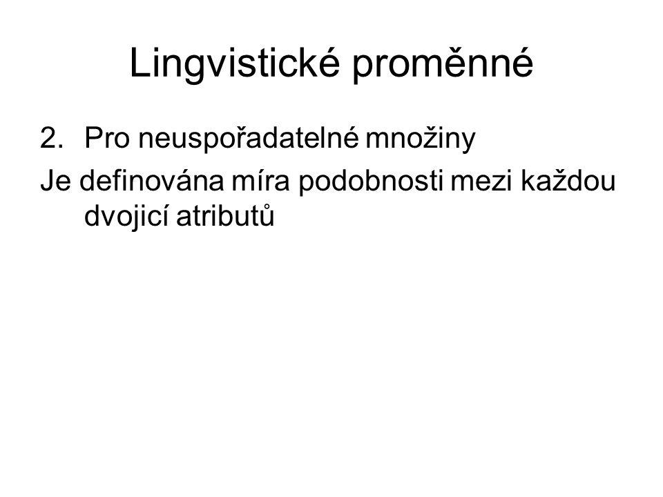 Lingvistické proměnné