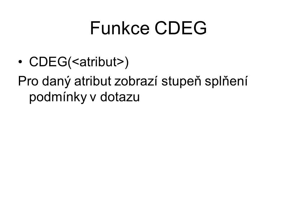 Funkce CDEG CDEG(<atribut>)