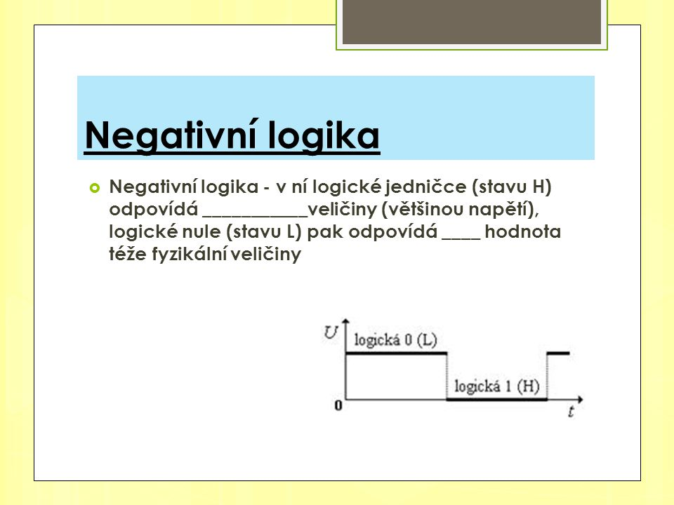 Negativní logika