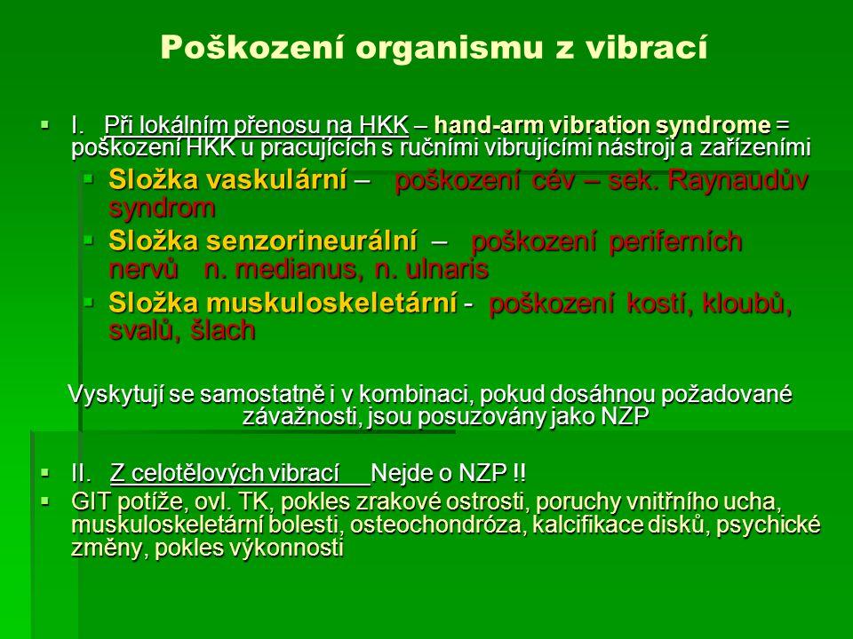 Poškození organismu z vibrací