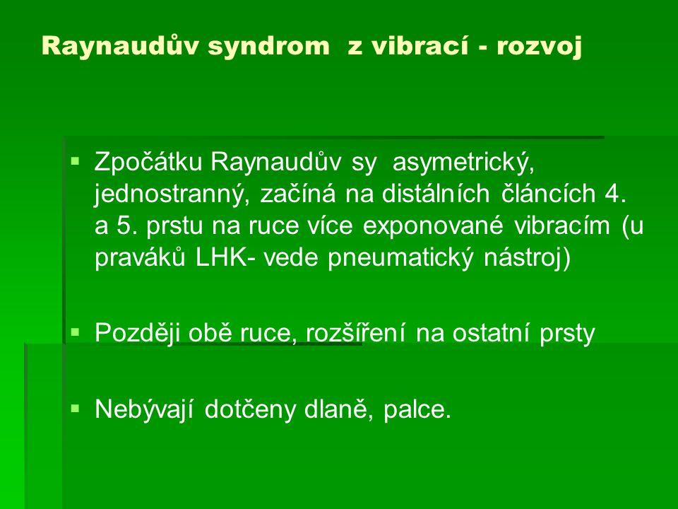 Raynaudův syndrom z vibrací - rozvoj