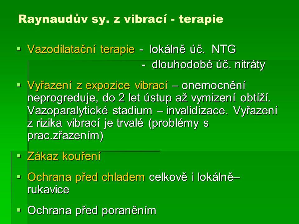 Raynaudův sy. z vibrací - terapie