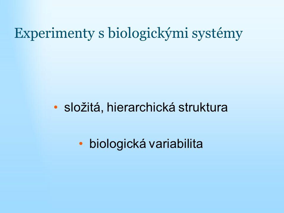 Experimenty s biologickými systémy