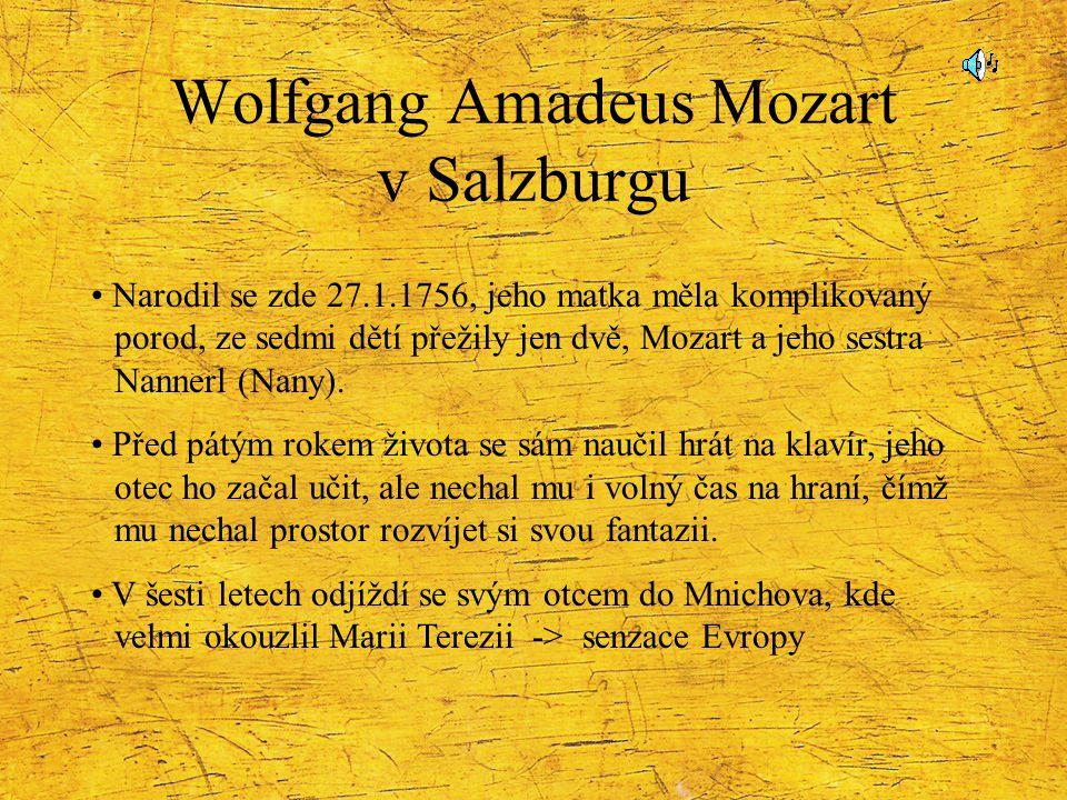 Wolfgang Amadeus Mozart v Salzburgu