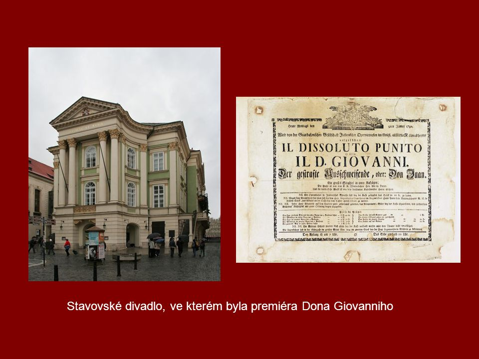 Stavovské divadlo, ve kterém byla premiéra Dona Giovanniho
