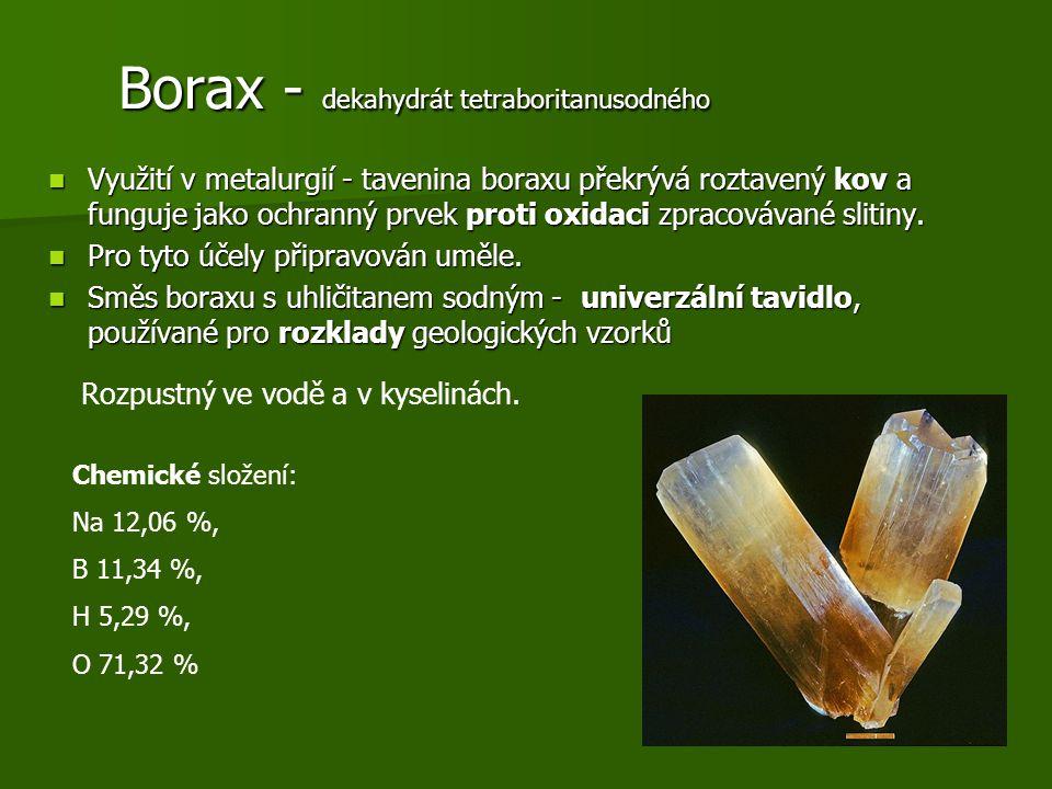 Borax - dekahydrát tetraboritanusodného