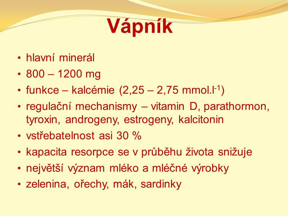 Vápník hlavní minerál 800 – 1200 mg