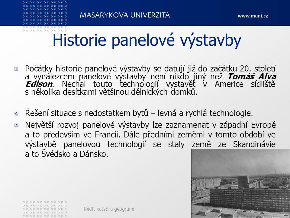Historie panelové výstavby