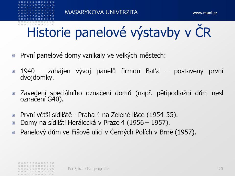 Historie panelové výstavby v ČR