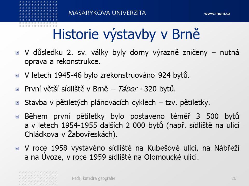 Historie výstavby v Brně