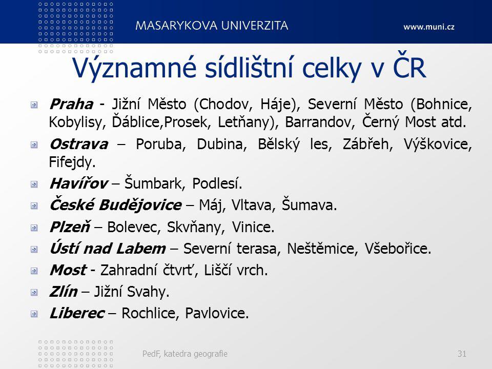 Významné sídlištní celky v ČR