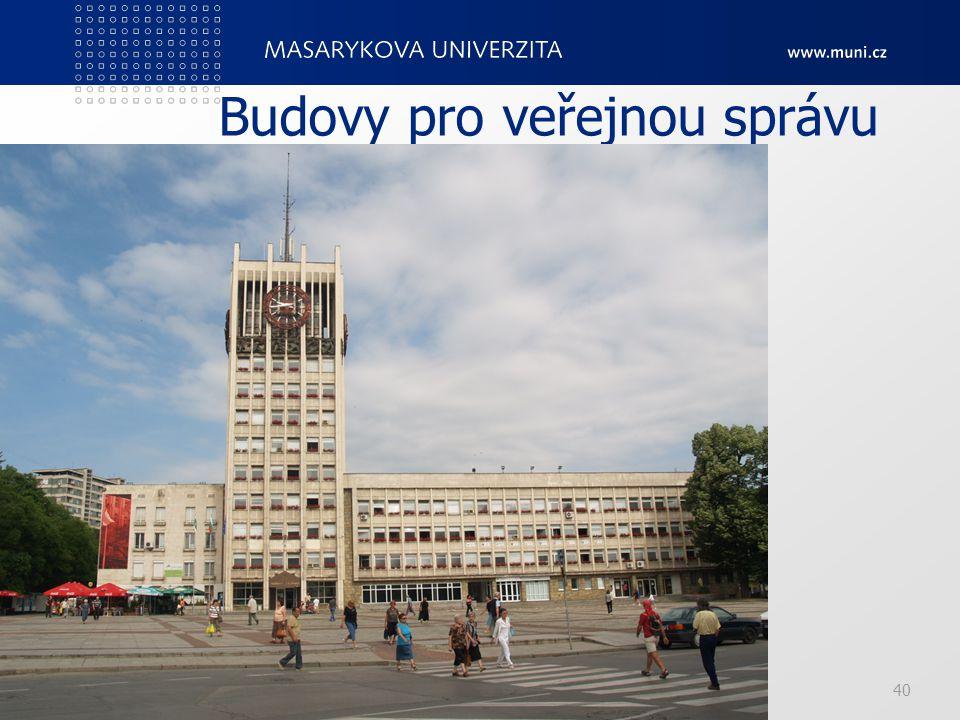 Budovy pro veřejnou správu