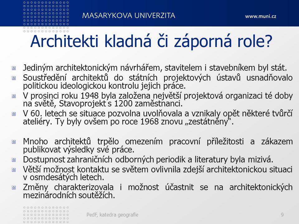 Architekti kladná či záporná role