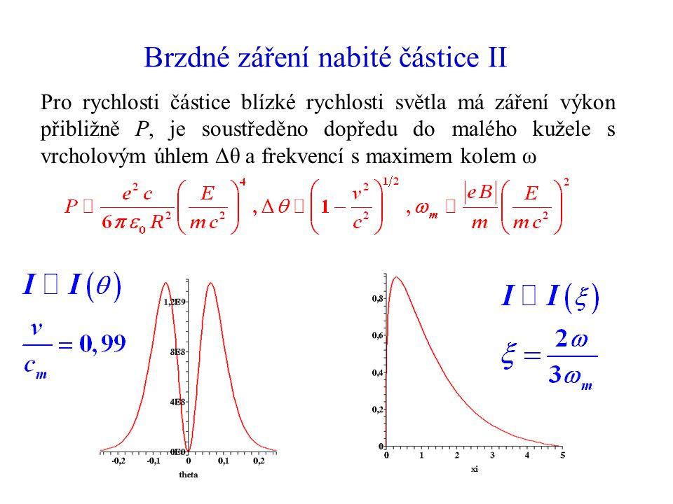 Brzdné záření nabité částice II