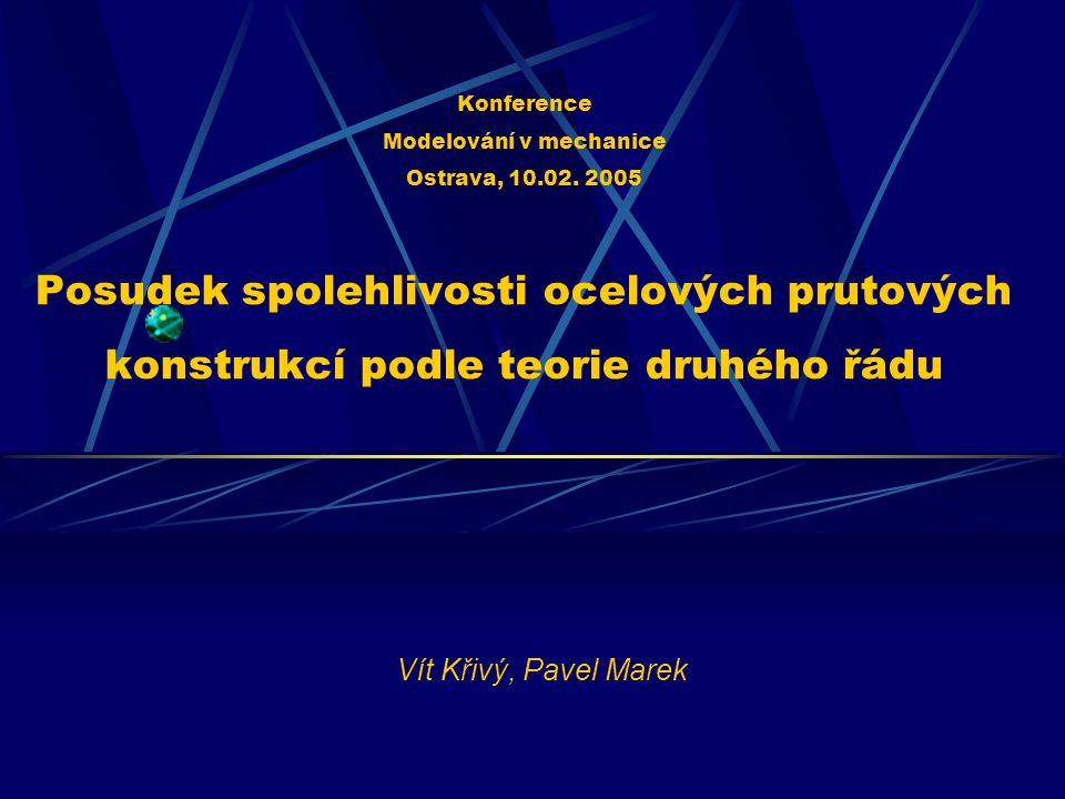 Konference Modelování v mechanice Ostrava, 10. 02