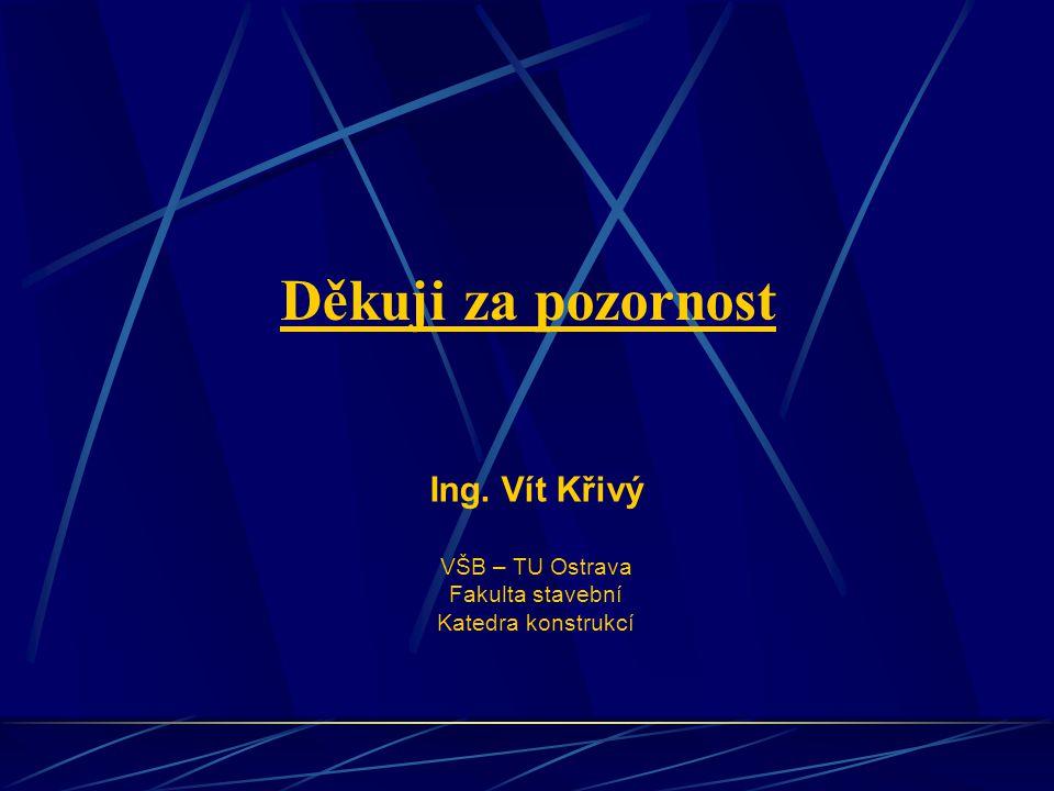 Děkuji za pozornost Ing. Vít Křivý VŠB – TU Ostrava Fakulta stavební
