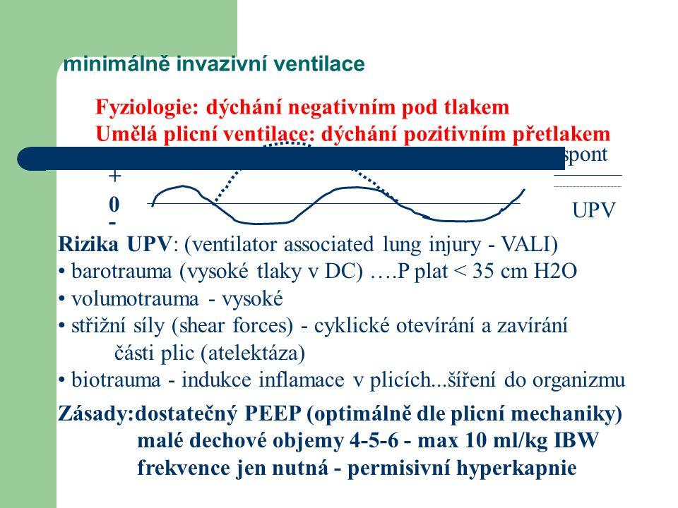 minimálně invazivní ventilace