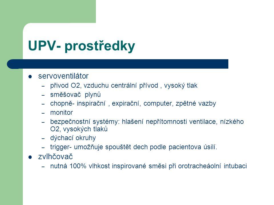 UPV- prostředky servoventilátor zvlhčovač
