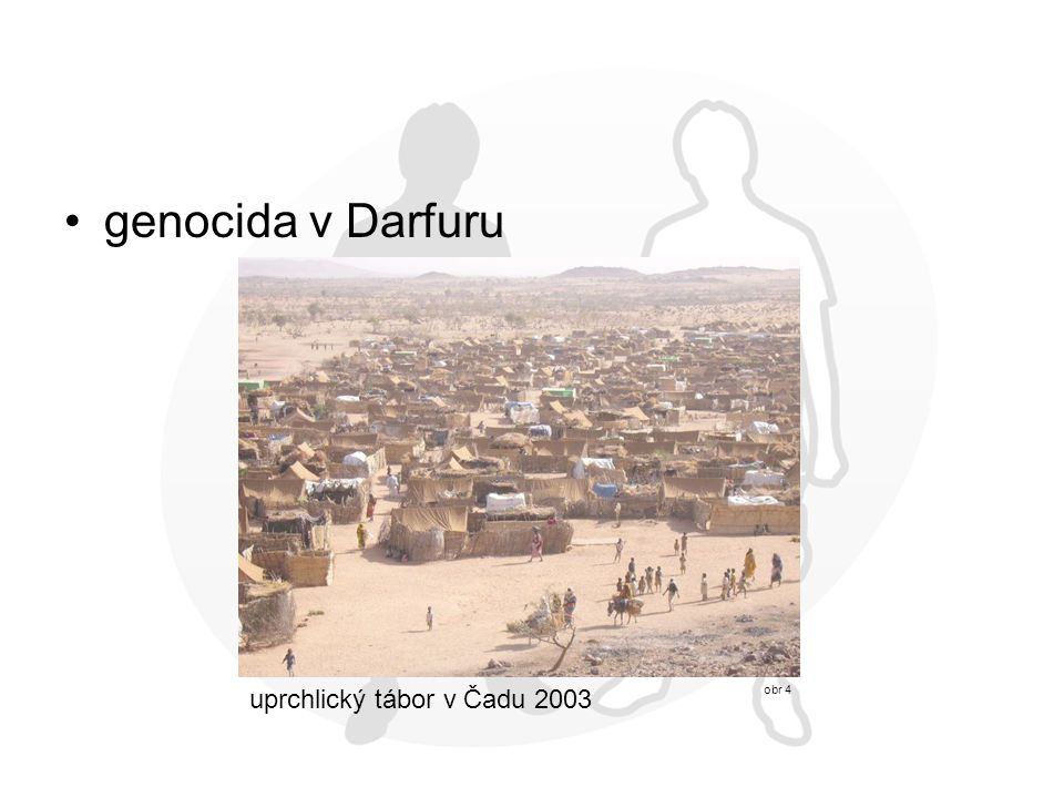 genocida v Darfuru uprchlický tábor v Čadu 2003 obr 4