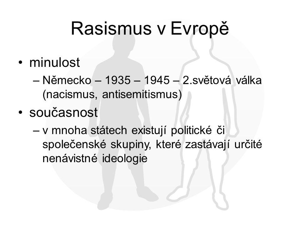 Rasismus v Evropě minulost současnost