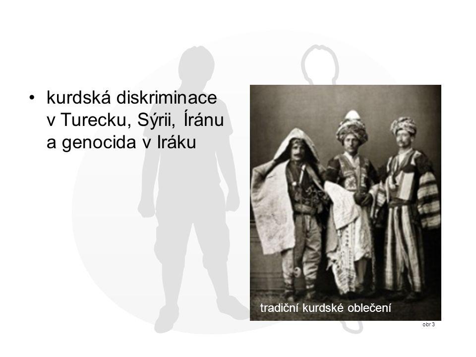 kurdská diskriminace v Turecku, Sýrii, Íránu a genocida v Iráku