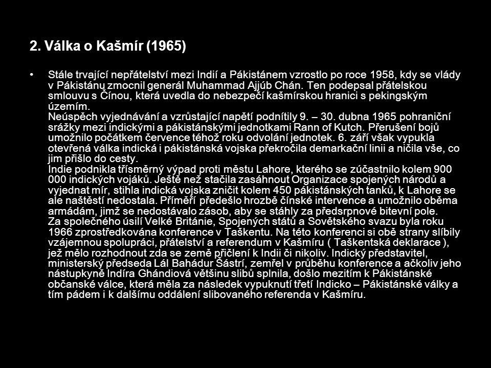 2. Válka o Kašmír (1965)