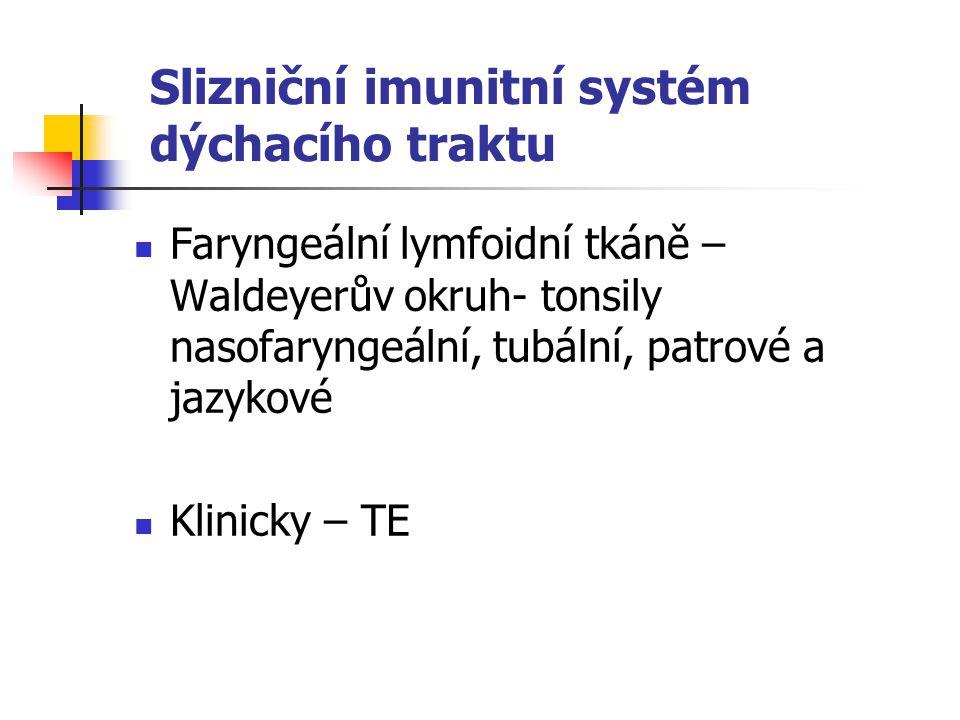 Slizniční imunitní systém dýchacího traktu