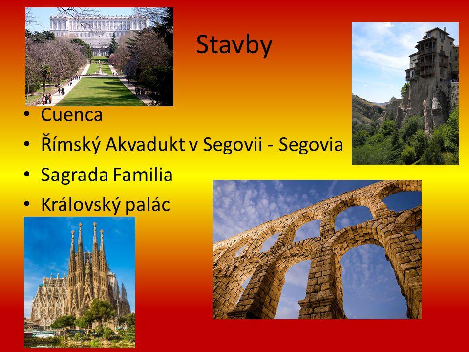 Stavby Cuenca Římský Akvadukt v Segovii - Segovia Sagrada Familia