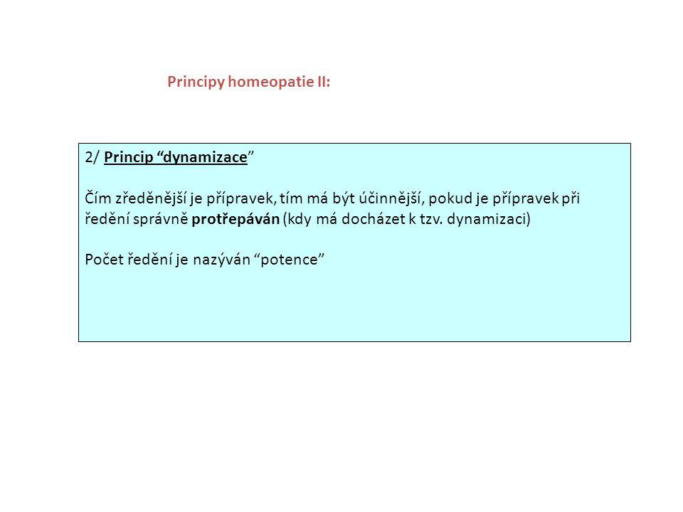 Principy homeopatie II: