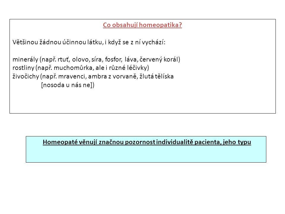 Co obsahují homeopatika