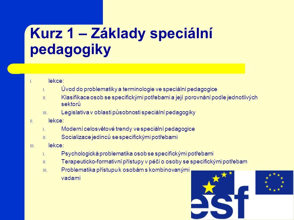 Kurz 1 – Základy speciální pedagogiky
