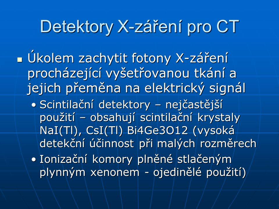 Detektory X-záření pro CT
