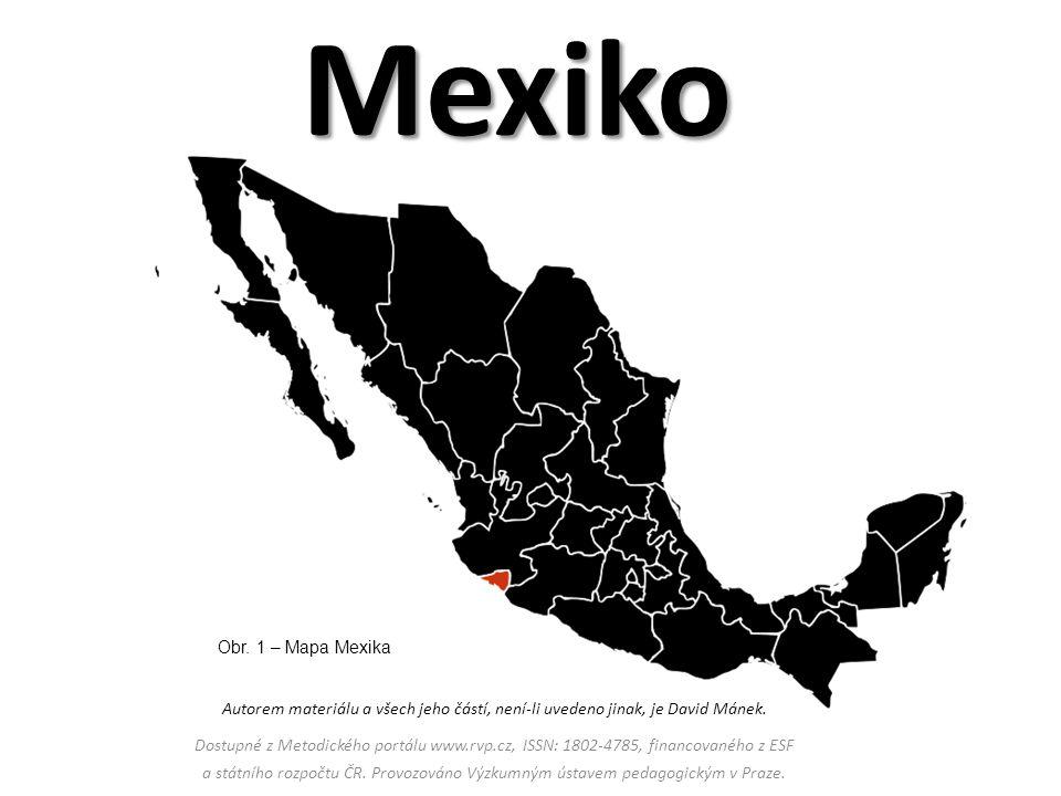 Mexiko Obr. 1 – Mapa Mexika