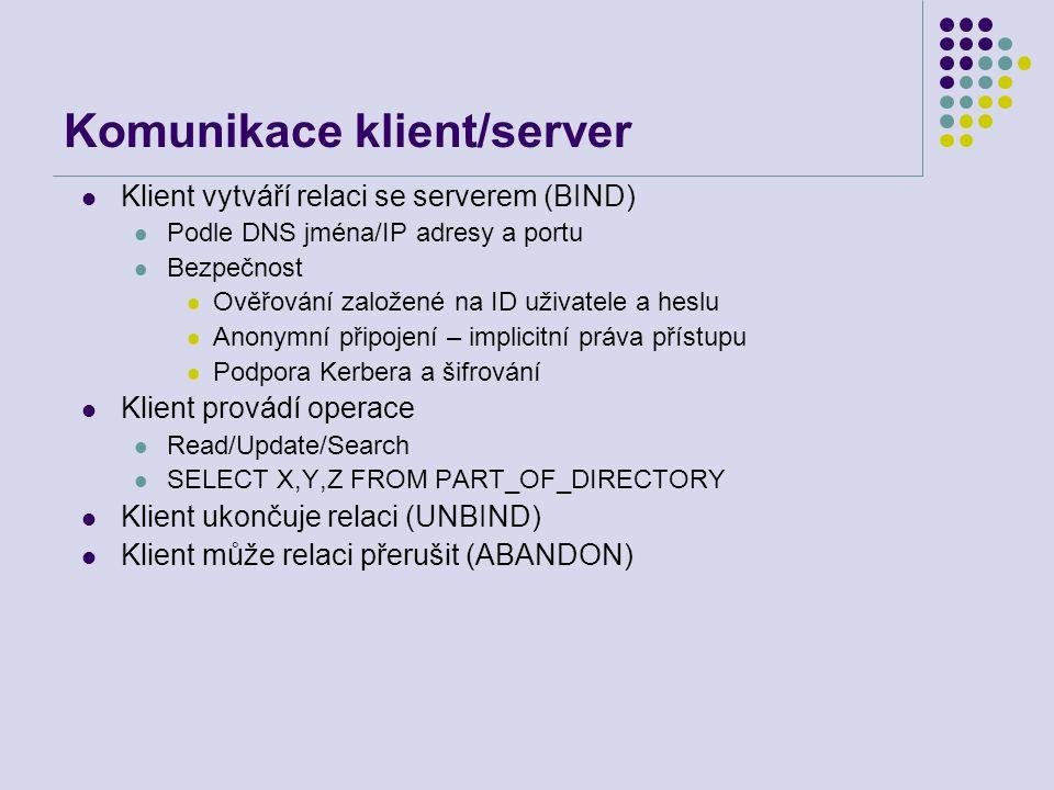 Komunikace klient/server