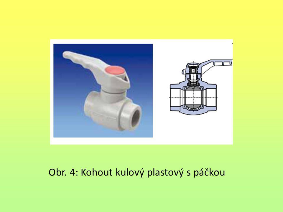 Obr. 4: Kohout kulový plastový s páčkou