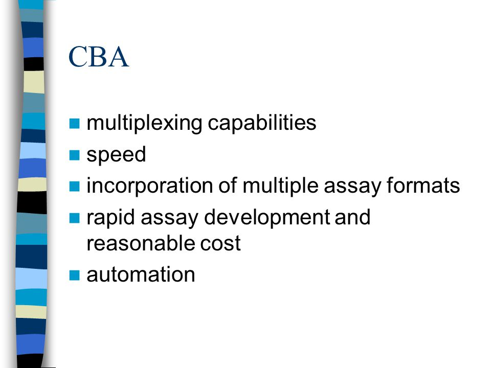 CBA multiplexing capabilities speed