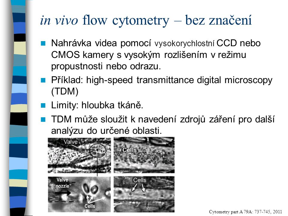 in vivo flow cytometry – bez značení