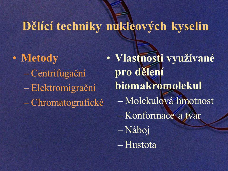 Dělící techniky nukleových kyselin