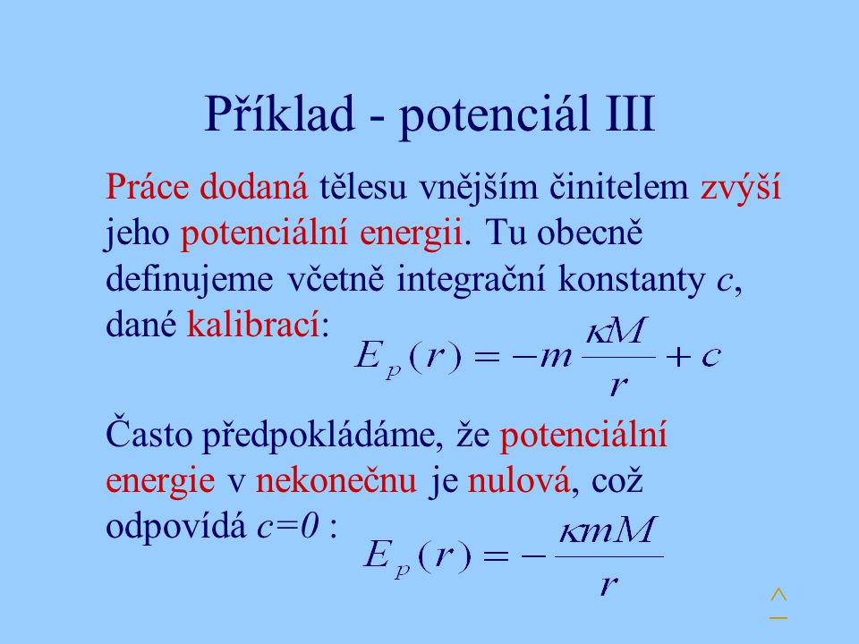 Příklad - potenciál III