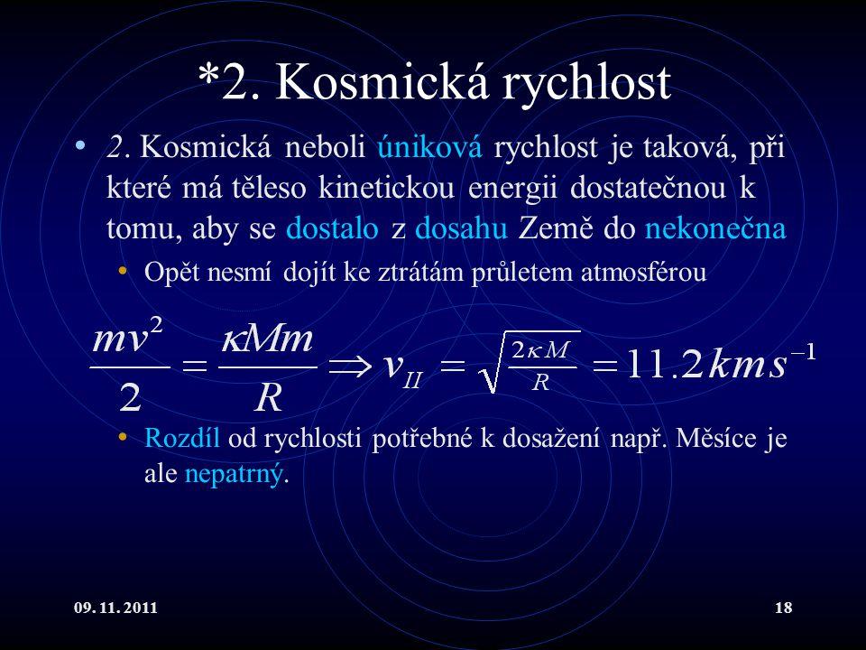 *2. Kosmická rychlost