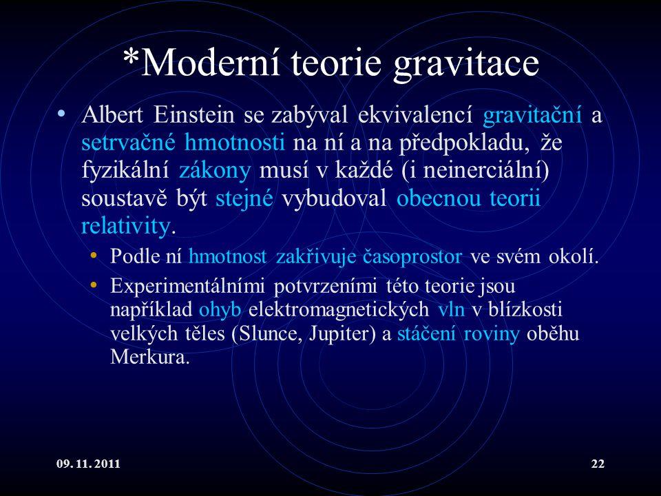 *Moderní teorie gravitace