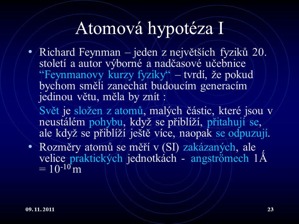 Atomová hypotéza I